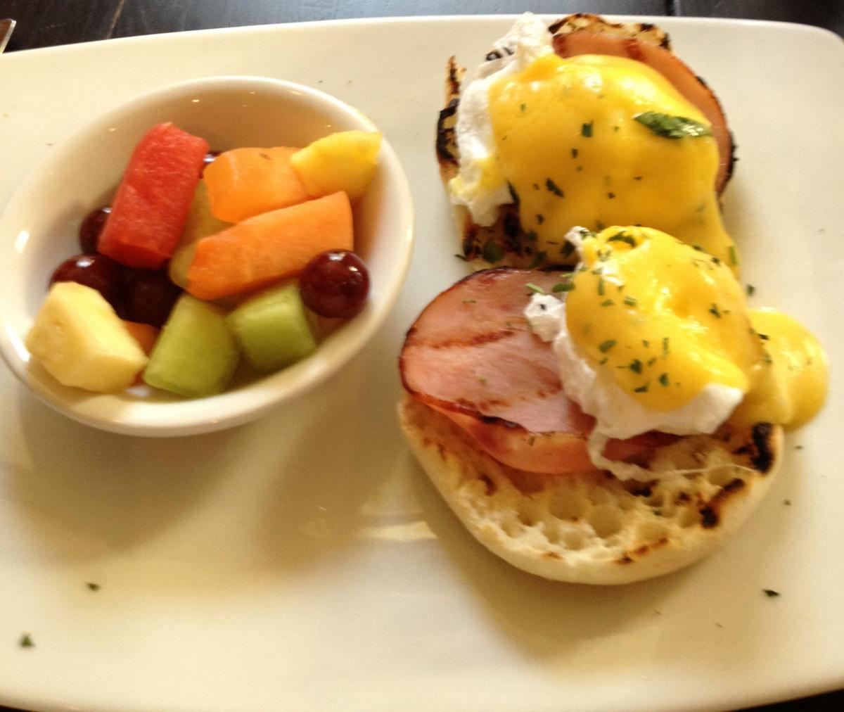 Tonic Eggs Benedict & Fruit