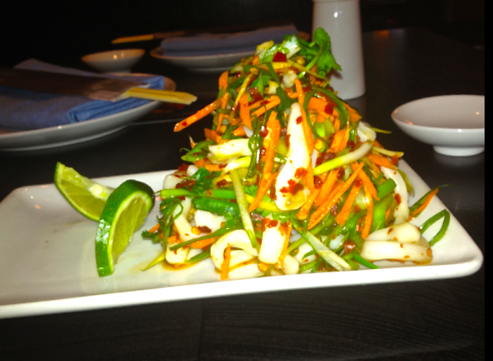 Citrus Calamari Salad