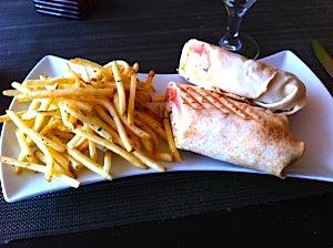 Chicken Shwarma w Fries @ Me Jana