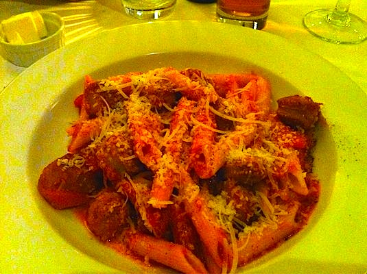 Penne w Spicy Sausage